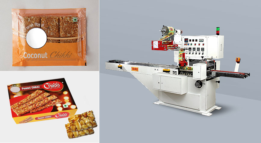 Chikki bar  packing machine manufacturer